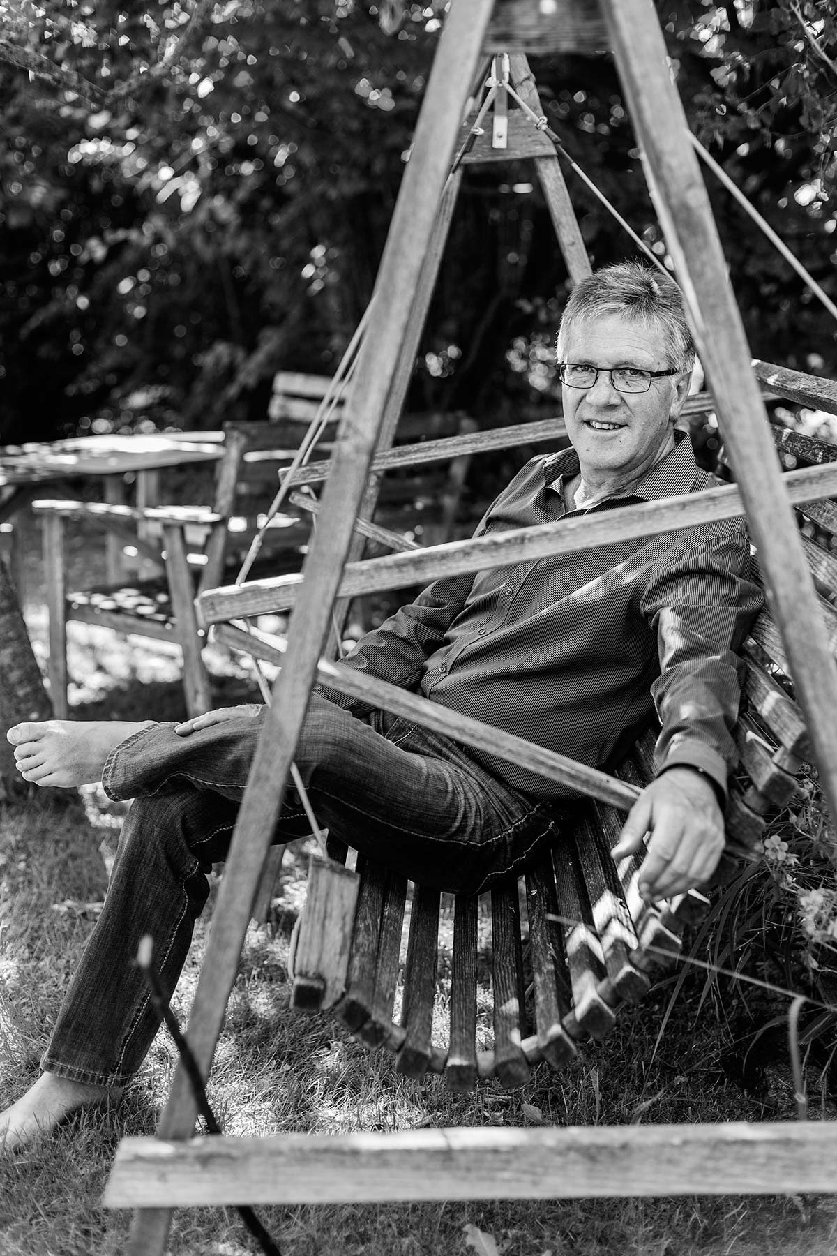 Kurt Gäble in seinem Unterallgäuer Naturparadies
