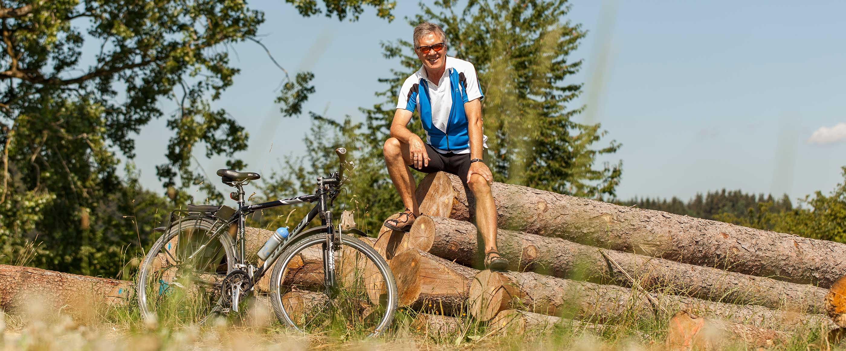 Kurt Gäble liebt Radtouren in der Natur